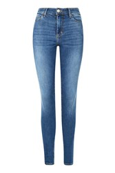 Topshop Tall 36 Mid Stone Wash Leigh Jeans Mid Stone