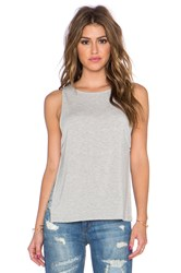 Nightcap Side Knot Crop Tank Gray