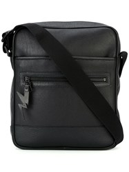 Neil Barrett Lightning Tag Messenger Bag Black