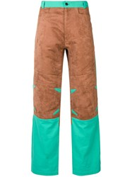 Mackintosh 0004 Chestnut And Turquoise 0004 Technical Trousers Brown