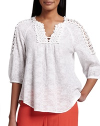 Xcvi Capitola Embroidered Voile Tunic