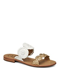 Jack Rogers Lauren Colorblock Sandals White Gold