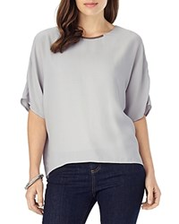 Phase Eight Leila Hardware Detail Split Back Blouse Silver