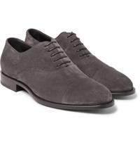 Hugo Boss Stockholm Suede Oxford Shoes Gray