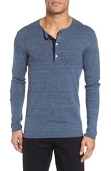Billy Reid Heirloom Cotton And Cashmere Henley Navy