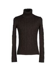 Kaos Knitwear Turtlenecks Men Dark Brown