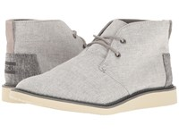 Toms Mateo Chukka Boot Grey Slub Chambray Men's Lace Up Boots Gray
