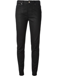 Dondup Waxed Effect Skinny Jeans Black