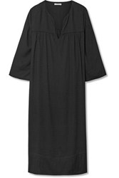 James Perse Voile Midi Dress Black