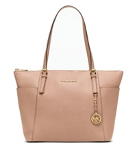 Michael Kors Jet Set Large Top Zip Saffiano Leather Tote Blush