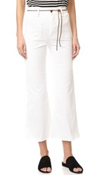 Aries Indy Flare Twill Jeans White