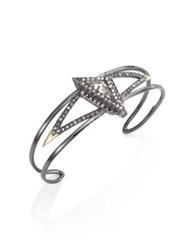 Alexis Bittar Tipped Fancy Pyramid Cuff Bracelet No Color