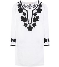Tory Burch Linen Tunic Dress White