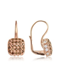Azhar Cubic Zirconia And Sterling Silver Square Earrings Rose Gold