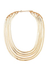 Forever 21 Layered Herringbone Necklace Gold