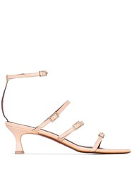 Manu Atelier Naomi 50Mm Strappy Sandals Vanilla