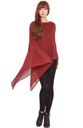 Women's Olian 'Lisa' Maternity Cape Top Red