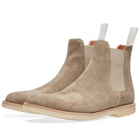 Common Projects Woman By Chelsea Boot Suede Neutrals
