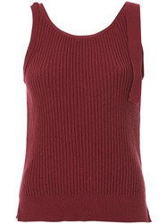 Astraet Knit Tank Top Red
