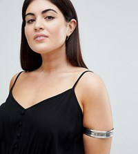 Asos Design Curve Thick Burnished Arm Cuff Burnished Silver