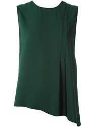 Cedric Charlier Asymmetric Hem Top Green