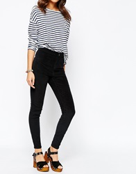 New Look Cord Disco Jean Black