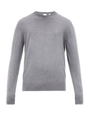 Burberry Tb Embroidered Cashmere Sweater Grey