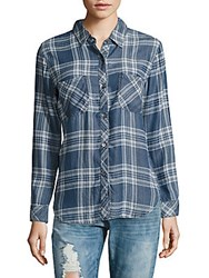 Rails Carter Plaid Long Sleeve Shirt Blue
