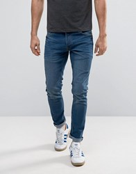 Solid Skinny Fit Jeans With Stretch Blue Black