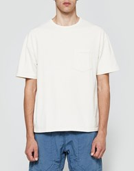 Beams Plus Heathered Crew Pocket Tee In Off White