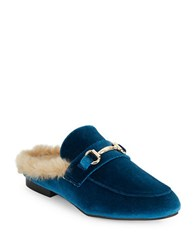Steve Madden Hill Faux Fur Lined Mules Turquoise