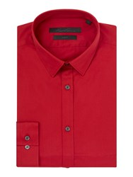 Kenneth Cole Winston Travel Shirt Red