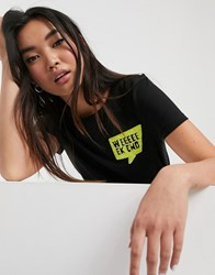 Only Kita Short Sleeve Neon Graphic T Shirt Black