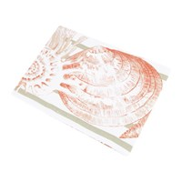Marinette Saint Tropez Riva Tablecloth Coral Natural