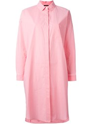 Odeeh Midi Shirt Dress Pink And Purple