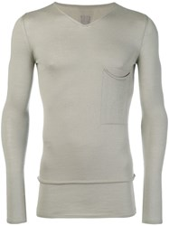 Rick Owens Fine Knit Fitted Sweater Nude And Neutrals