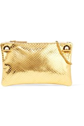 The Row Party Time 7 Metallic Ayers Shoulder Bag Gold