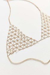 8 Other Reasons Mayfair Bralette Body Chain Gold