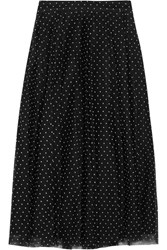 J.Crew Fia Polka Dot Flocked Tulle Skirt Black