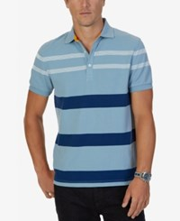 Nautica Men's Classic Fit Striped Polo Anchor Blue