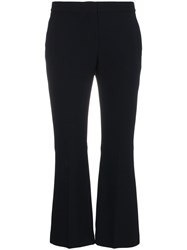 Alexander Mcqueen Kick Flare Cropped Trousers Black