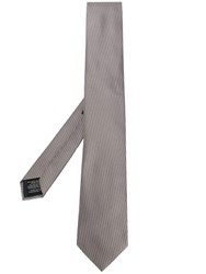 Z Zegna Striped Tie Grey