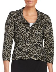 Nipon Boutique Lace Topped Jacket Black Cream