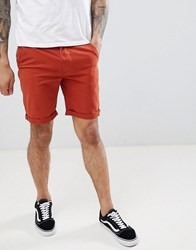 D Struct Turn Up Chino Shorts Red