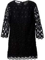 Dondup Crocheted Shift Dress Black