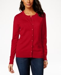 Charter Club Long Sleeve Button Front Cardigan