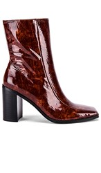 Jaggar Bold Ankle Bootie In Brown. Chocolate