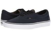 Vans Era Vintage Camo Dark Navy Black Skate Shoes