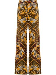 F.R.S For Restless Sleepers Tiger Print Flared Trousers 60