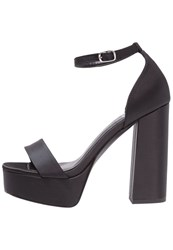 Evenandodd Platform Sandals Black